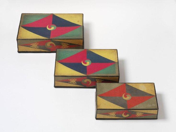 Stackable Sewing Boxes (Jijang Samhap), 지장삼합  top image