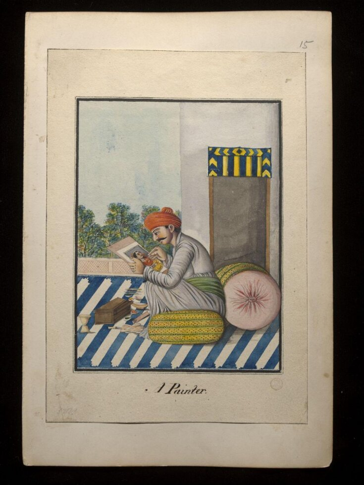 An album containing fifty-three drawings depicting occupations. top image