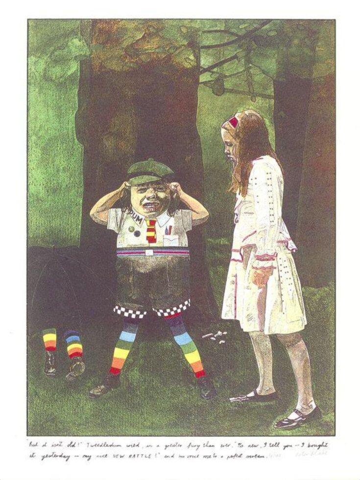 """But isn't it old!"" Tweedledum cried top image"