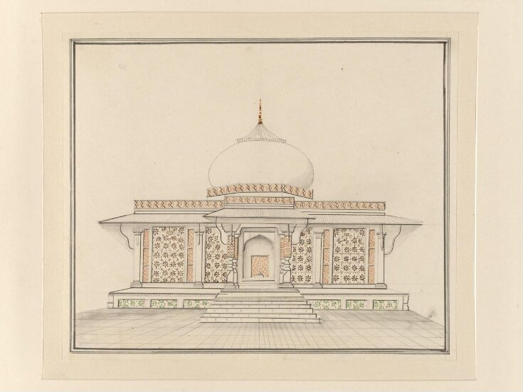 Six drawings of Mughal monuments. top image