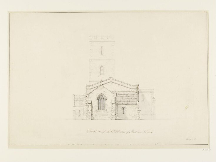 Drawing of the Elevation of the East End of Marcham Church top image