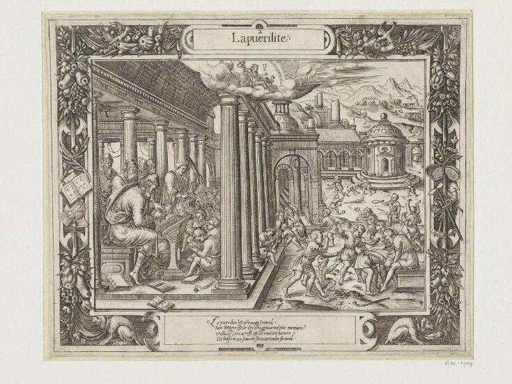 Les Figvres Et Povrtraictz Des Sept Aages De L'Homme ... Faictz tailler et grauer Par N. L. C top image