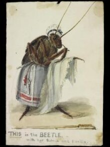 THIS is the BEETLE with her thread and needle thumbnail 1