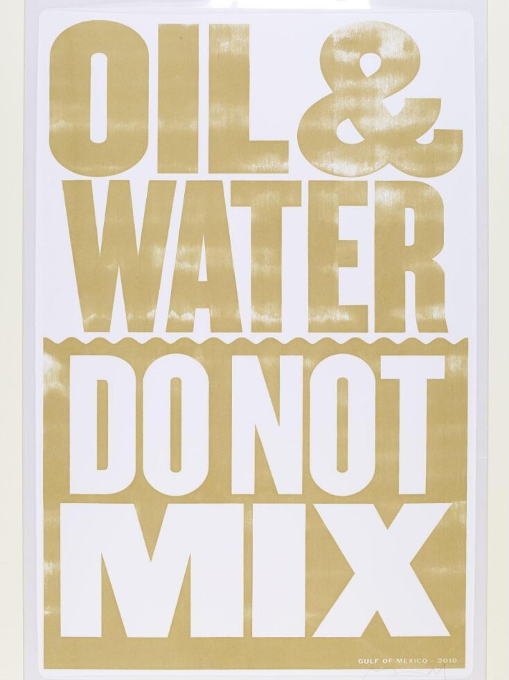 'Oil & Water Do Not Mix' top image
