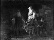 Abraham dismissing Hagar and Ishmael thumbnail 1