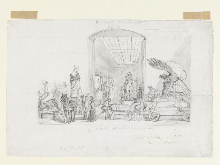 Sculpture Gallery door-way at the Exposition Universelle, Paris top image