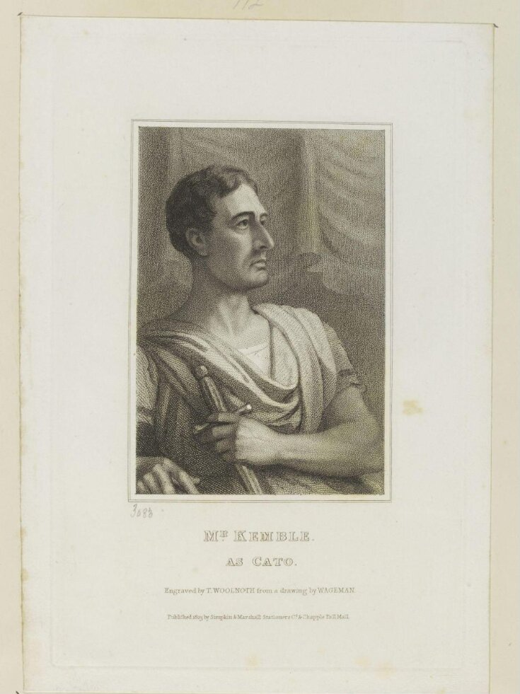 Mr. Kemble as Cato top image