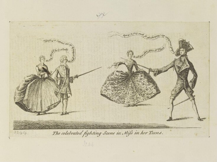 'The celebrated fighting scene in Miss in her Teens' top image