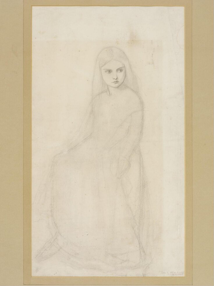Drawing of a dancing girl: study for 'The Borgia Family', a watercolour at Tullie House Museum, Carlisle top image