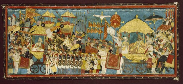 Processional scene with Amar Singh, ruler of Thanjavur (Tanjore), and Sarabhoji top image