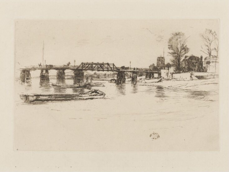 Chelsea: old Battersea Bridge and Chelsea Old Church, with Albert Bridge beyond (seen in reverse) top image