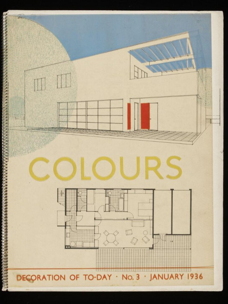 Colours: Decoration of to-day, no.3, January 1936, Written, illustrated and produced by Mr. Chermayeff top image