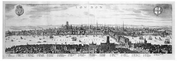 View of London looking over Southwark to the North top image