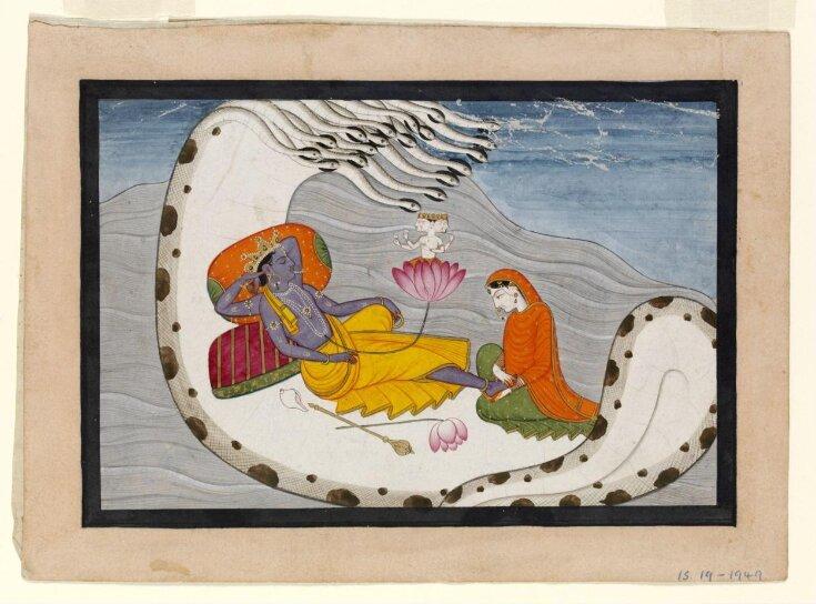 Vishnu and Lakshmi  top image