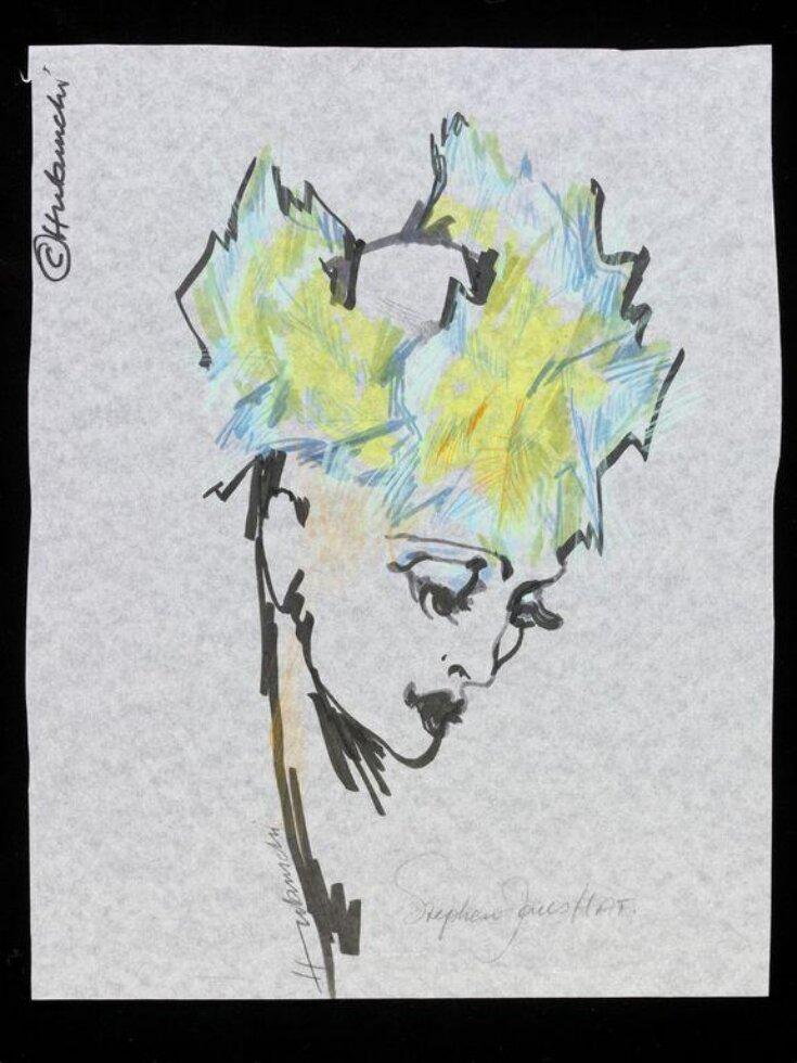 Fashion illustration for Stephen Jones hat top image