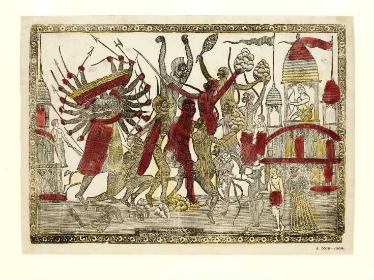 The fight between Rama and Ravana - a scene from the Ramayana top image