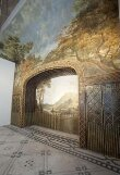 Landscape with Castle (fresco from the Painted Dining Room, Drakelow Hall) thumbnail 2