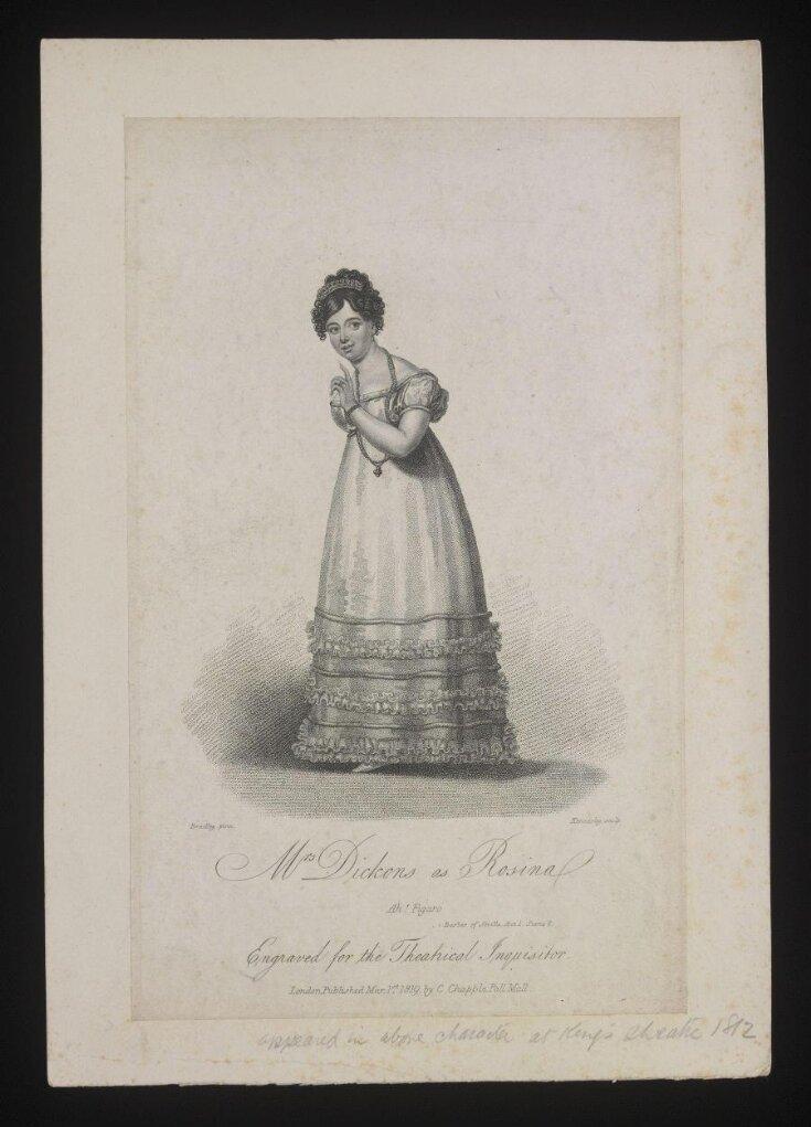 Mrs Dickons as Rosina top image