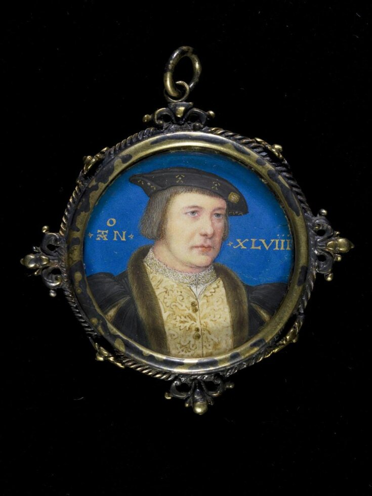 Portrait miniature of a gentleman, possibly Charles Brandon, Duke of Suffolk top image
