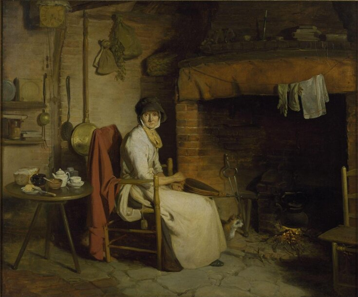 A Cottage Interior: An Old Woman Preparing Tea top image