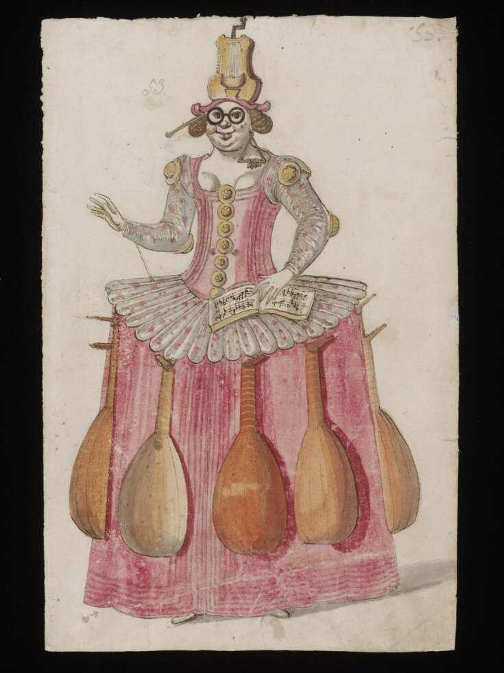 Costume design for the Entry of Music top image