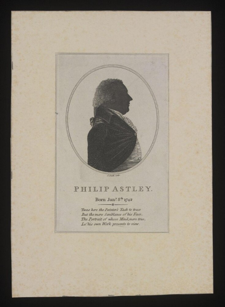 Silhouette of Philip Astley (1742-1814) top image