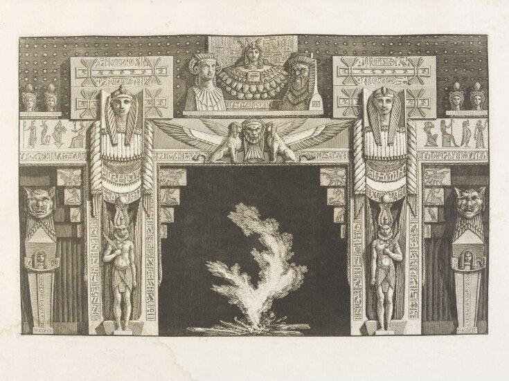 Diverse maniere d'adornare i cammini ed ogni altra parte degli edifizi desunte dall'architettura Egizia, Etrusca, Greca top image