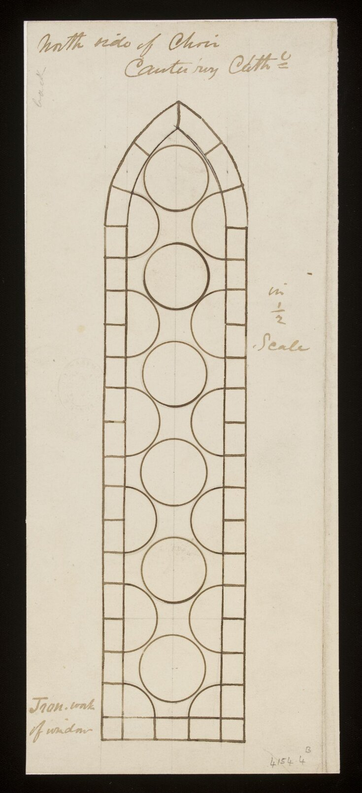 Record Drawing of Stained Glass top image