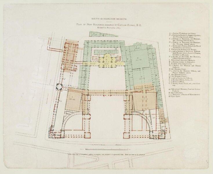 South Kensington Museum. Plan of New Buildings designed by Captain Fowke, R. E. top image