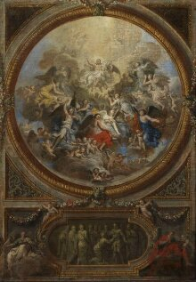 The Ascension and the Incredulity of St Thomas (sketch for the decoration of the chapel at Chatsworth) thumbnail 1