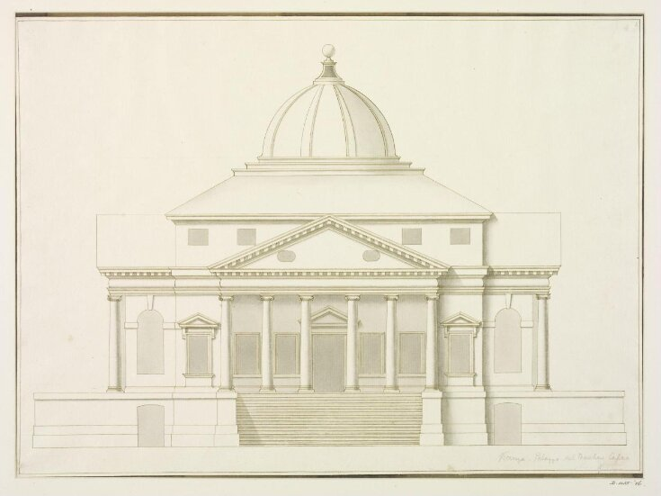 Elevation Of Villa Almerico Capra La Rotonda Vicenza Unknown Circle Of Antonio Visentini 1688 1782 V A Explore The Collections
