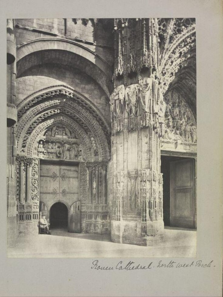 Rouen Cathedral, north west porch top image