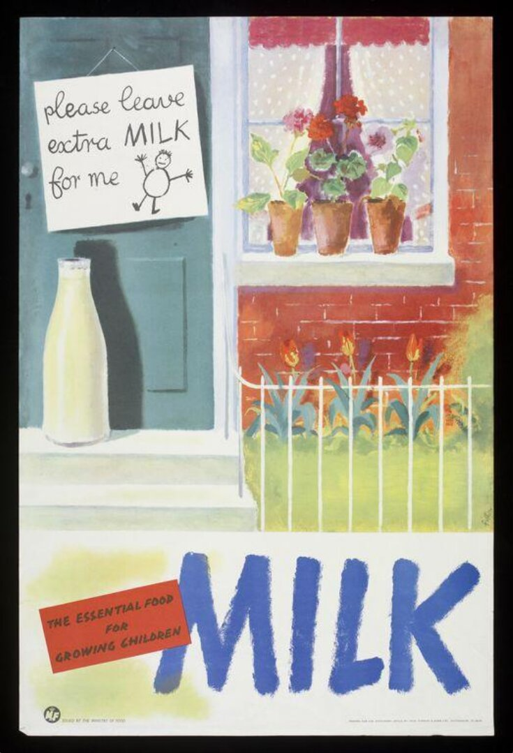 Milk. The Essential Food For Growing Children. top image