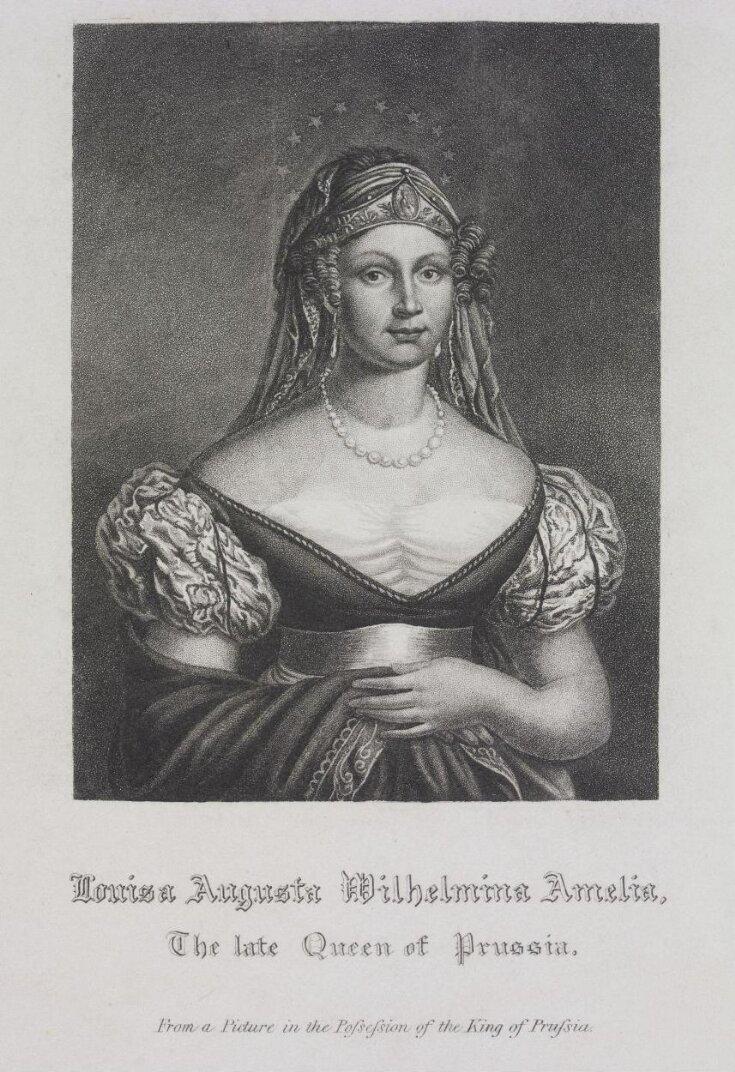 Louisa Augusta Wilhelmina Amelia: The late Queen of Prussia top image