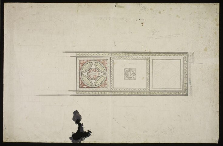 Design for mosaic pavement in the V&A top image
