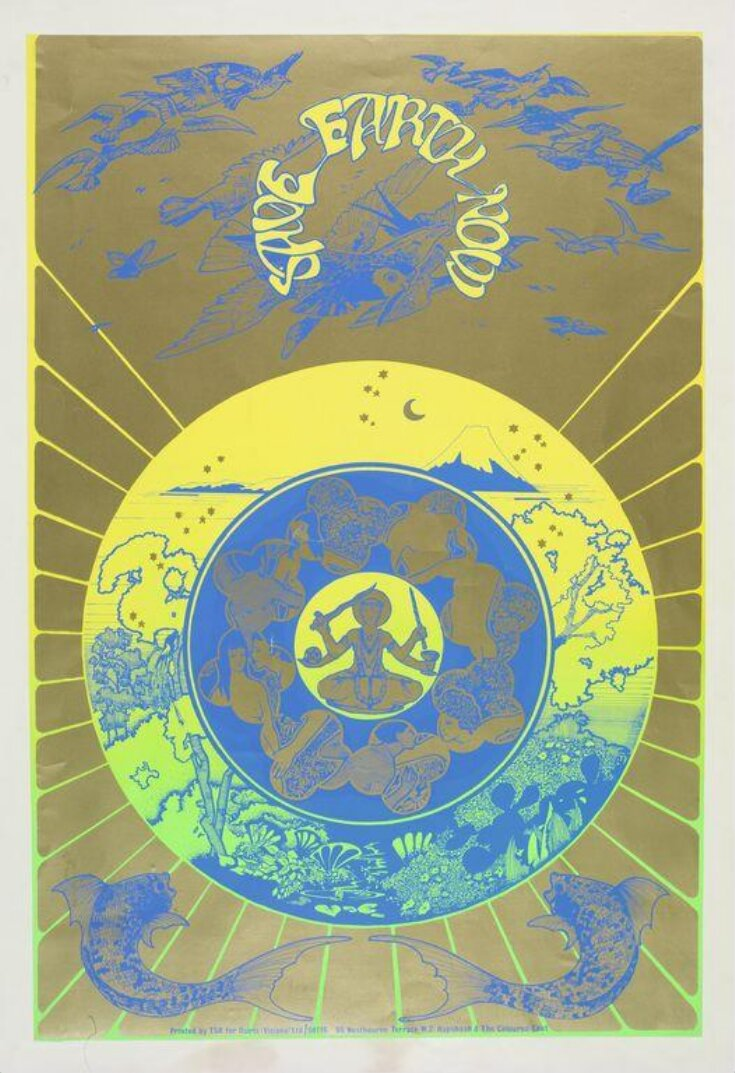 Save Earth Now HAPSHASH OFFICIAL print designed 1967 Signed by Nigel Waymouth