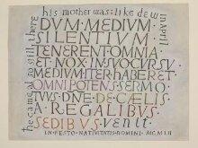 Dum medium silentium : calligraphy, 1952 thumbnail 1