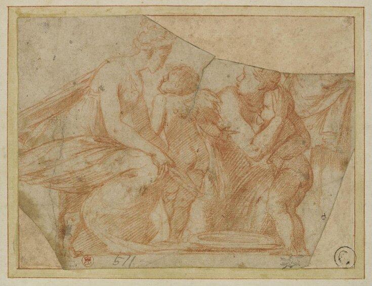 Venus threatening to clip Cupid's wings top image