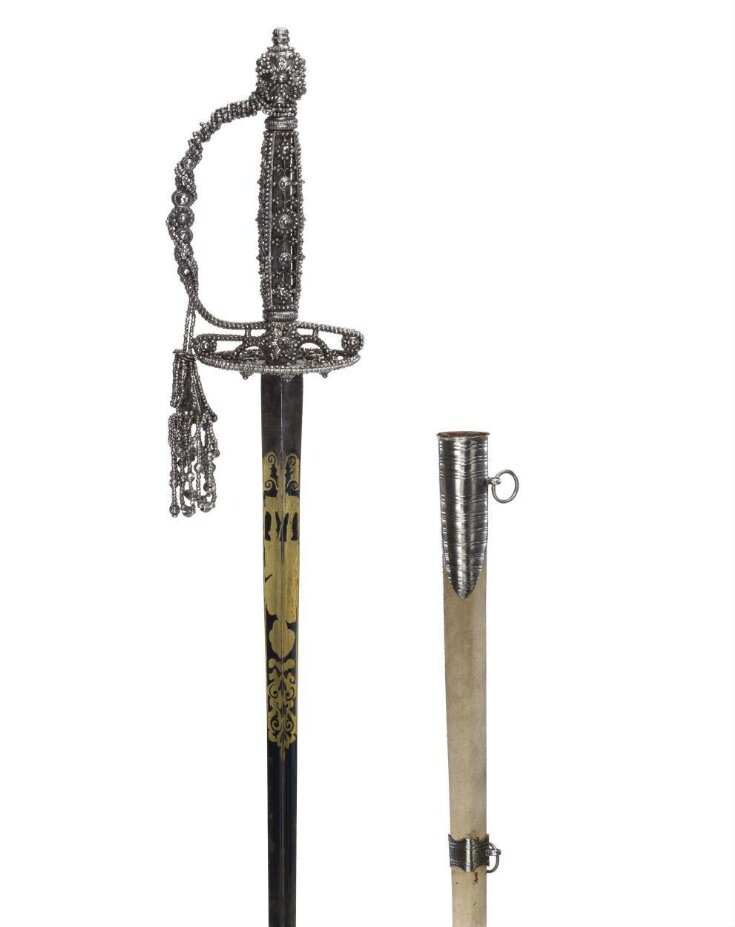 Small Sword With Hilt-Case and Scabbard top image