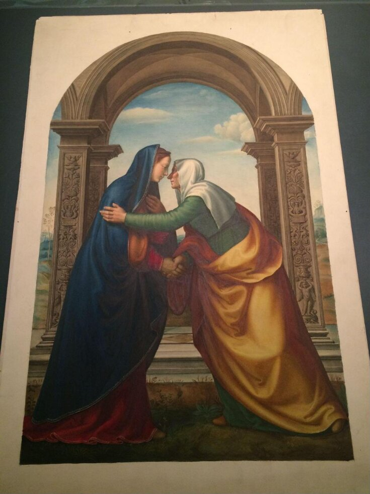 Copy after The Visitation (The meeting of Mary and Elizabeth), Mariotto Albertinelli in the Uffizi (Florence) top image