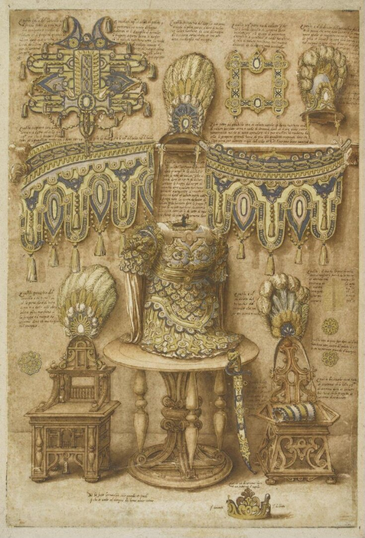 Design for arms, armour, horses' trappings etc, for a pageant or triumph top image