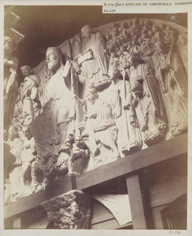 Cast of Portico de la Gloria (detail), the Cathedral of Santiago de Compostella in Spain top image