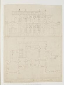 Plan and elevation of 'Goose-Pie House', Whitehall thumbnail 1
