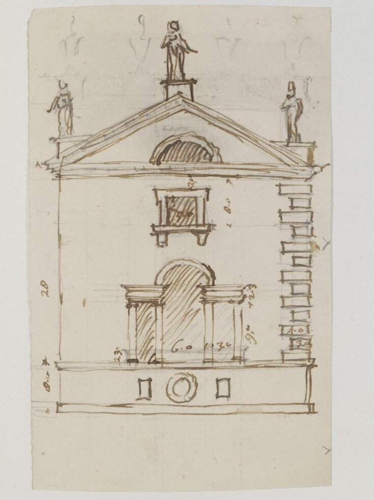 Elevation of a small building for a garden of an unidentified project top image