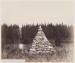 Stone pyramid on the 49th Parallel, on the right bank of the eastern intersection of the Kootenay River, cutting on the left bank thumbnail 2