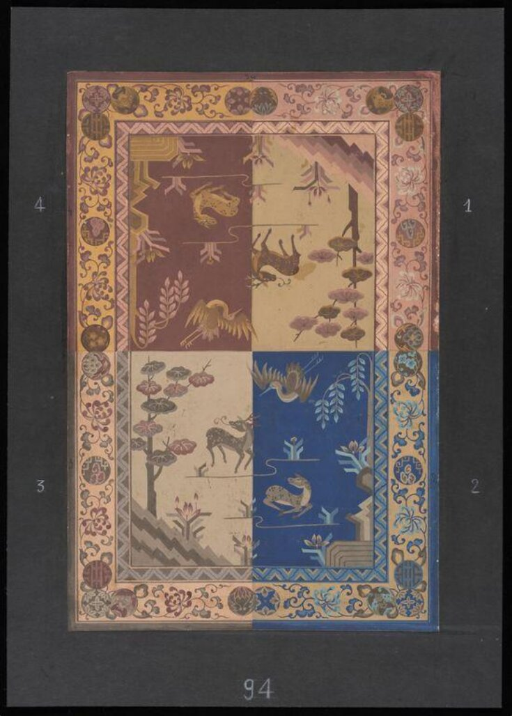 Design for a carpet in the chinoiserie manner top image