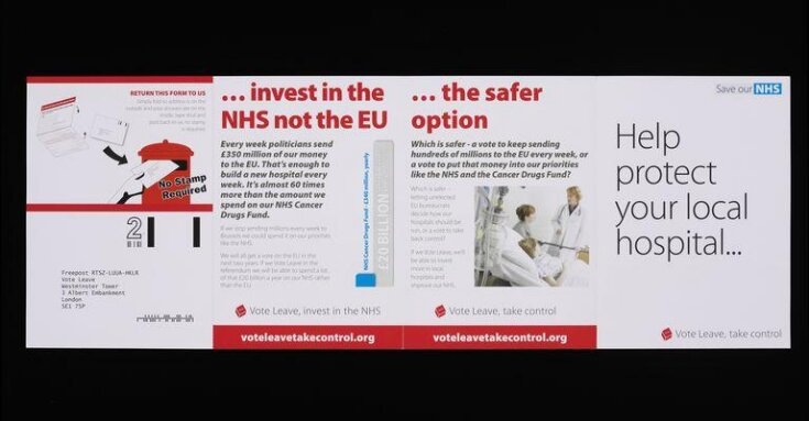 Vote Leave 'Help protect your local hospital' Eight page leaflet top image