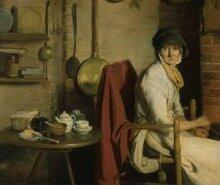 A Cottage Interior: An Old Woman Preparing Tea thumbnail 1