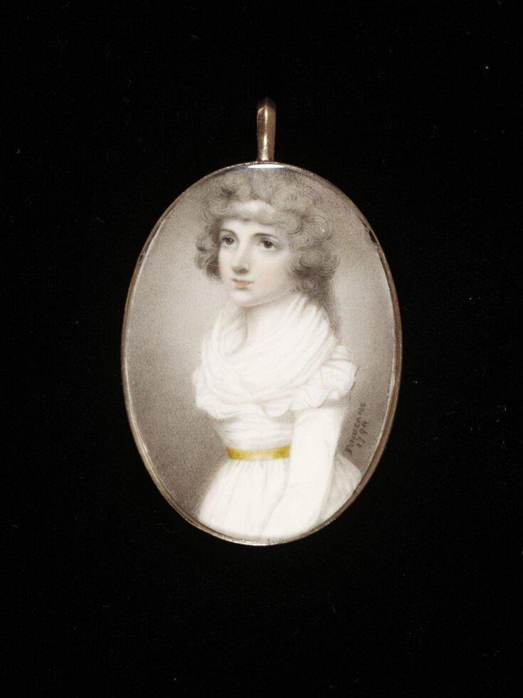 Portrait miniature of a lady top image