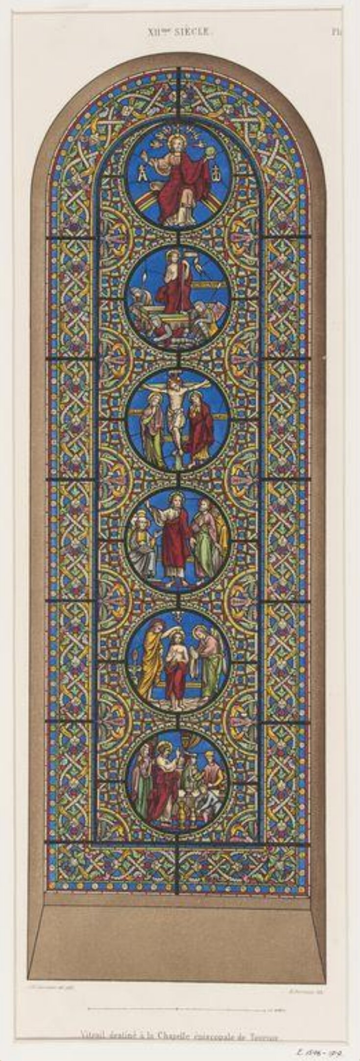 Stained glass window in the Chapelle Episcopale de Tournai top image